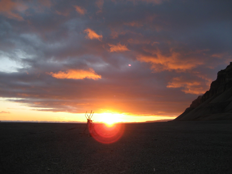 Sunset Svalbard Norway