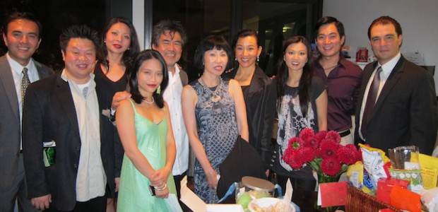 Opening Night Special Guests with Cast: David Henry Hwang, Amy Tan, Joan Chen.