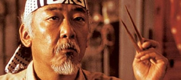 Pat Morita, first Asian American to be nominated for an Oscar, 1984.