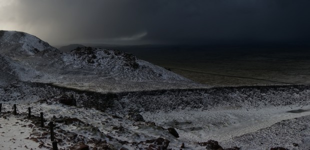 My view of the landscape in  Iceland from the volcano Thrihnukagigur.