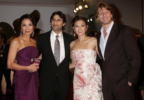 Michelle Yeoh, Asif Kapadia, Michelle Krusiec and Sean Bean