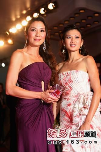 MK with Michelle Yeoh at Venice Film Festival