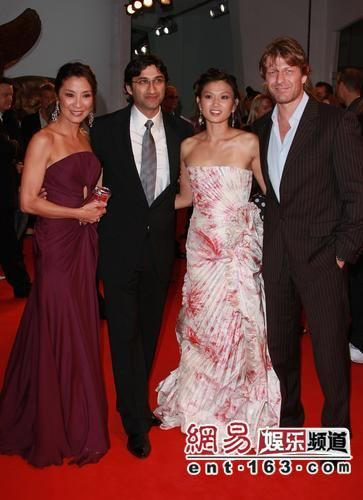 MK with Michelle Yeoh, Asif Kapadia and Sean Bean at the Venice Film Festival.